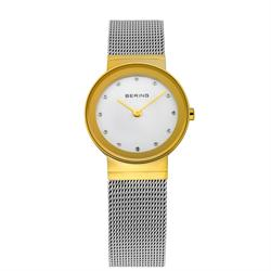 Classic Silver and Gold Mesh Strap Ladies Watch