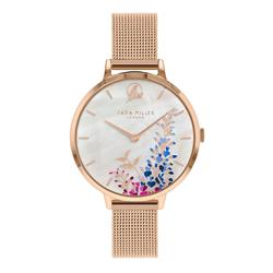 Buy Sara Miller Wisteria Watch, Rose Gold and White