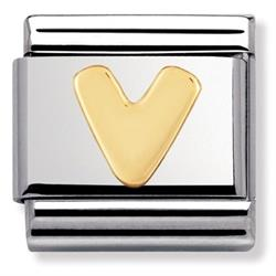Buy Nomination Gold Letter V