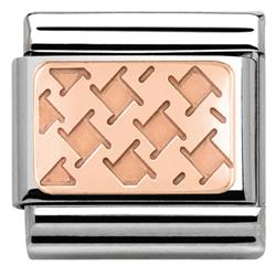 Rose Gold Houndstooth Charm
