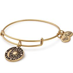 Cosmic Balance Disc bangle in Rafaelian Gold Finish