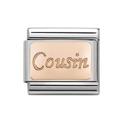 Rose Gold Cousin Plate Charm