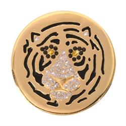 Gold Sparkling Tiger Medium Coin 33mm