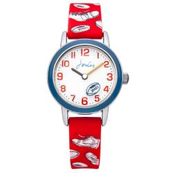 Red Rugby Print Kids Watch