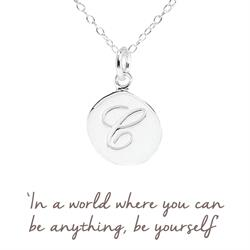 C Mantra Initial Necklace