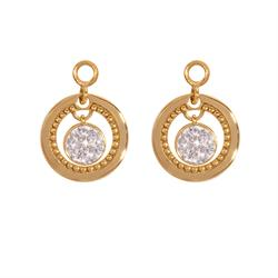 Vintage Dangle Gold Coin Drops