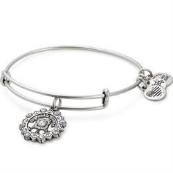 Maid of Honour Swarovski Bangle in Rafaelian Silver