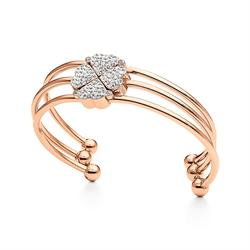 Heart4Heart Rose Gold Plated Clover Bracelet Set
