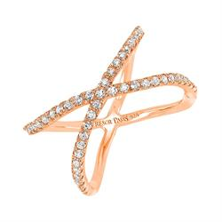 Allure Rose Gold Crystal Ring Size L