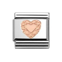 Rose Gold Diamond Heart