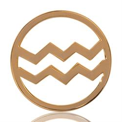 Nikki Lissoni Outlet Aquarius Gold Medium Coin