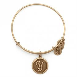 Y Initial Bangle in Rafaelian Gold