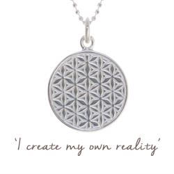 Mel Wells Flower of Life Disc Necklace in Sterling Silver