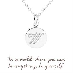 W Mantra Initial Necklace