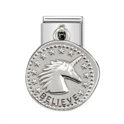 Nomination Silver Believe Unicorn Charm
