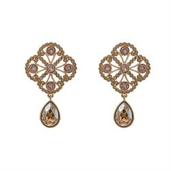 Miss Lola Golden Shadow Earrings