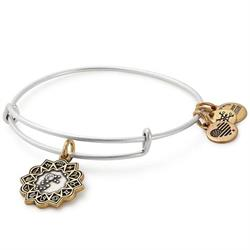 Aquarius Two-Tone Zodiac Bangle
