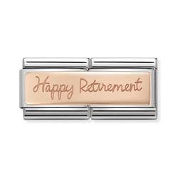 Rose Gold Happy Retirement Double Link