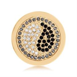 Gold Sparkling Yin Yang Coin 23mm