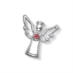 Silver Pink Tourmaline Guardian Angel Treasure