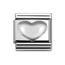 Buy Nomination Plain Silver Heart