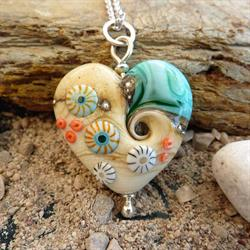 Sea & Sand Heart Necklace