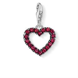 Buy Thomas Sabo Red Corundum Open Heart Charm