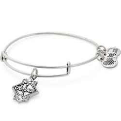 Amour Crystal Bangle in Rafaelian Silver