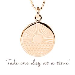 One Day at a Time Sunrise Necklace in Rose Gold