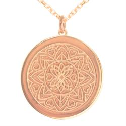 Love Mandala Rose Gold Personalised Necklace 80cm