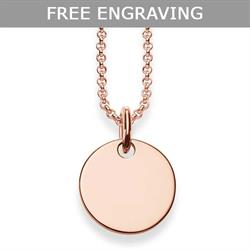 Glam & Soul Engravable Rose Gold Disc Necklace