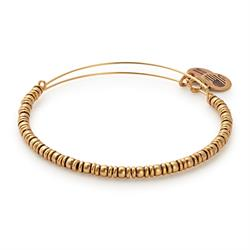 Rocker Beaded Bangle in Rafaelian Gold Finish