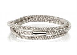 Pure Attraction Silver Wrap Bracelet