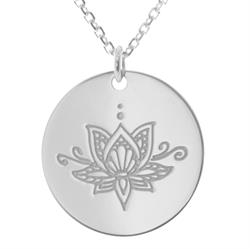 Ornate Lotus Personalised Necklace 80cm