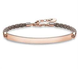 Taupe Sparkle Love Bridge Bracelet 18cm