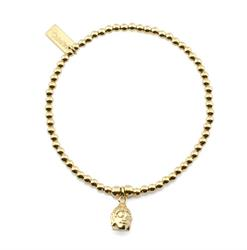 Cute bracelet with mini Buddha head