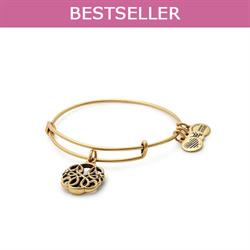 Path of Life Disc bangle in Rafaelian Gold Finish