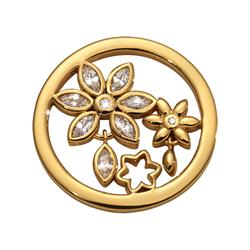 Gold Bouquet Wildflowers Coin 23mm
