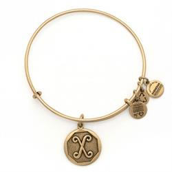 X Initial Bangle in Rafaelian Gold