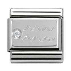 Nomination Silver CZ Aquarius
