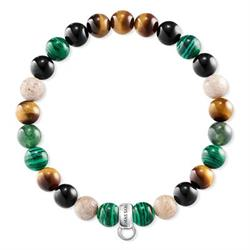 Tiger's Eye Malachite S Charm Club Bracelet
