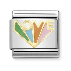 Gold Rainbow Love Charm