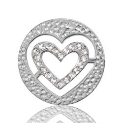 Silver Heart Coin 23mm