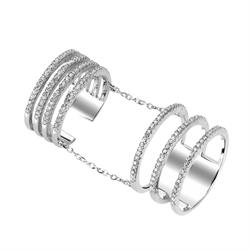 Tresor Paris Outlet Metric Cage Ring Size N