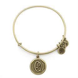 Q Initial Bangle in Rafaelian Gold
