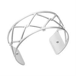 Medium Silver Cannage Cuff Bangle