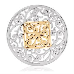 Silver Square Fantasy Coin 43mm
