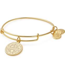 Thankful bangle in Shiny Gold