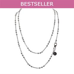 Silver 60cm Graduated Beads Chain