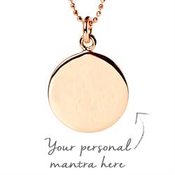 1.5cm Rose Gold-Plated Personalised Necklace 45cm